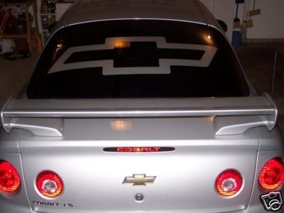Bowtie HoodWindow Decal - Chevy window decals for trucks