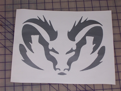 Tribal Ram Head Window Decal
