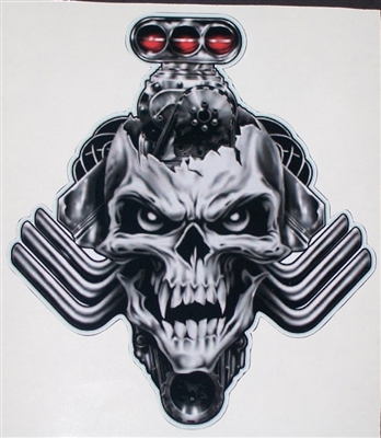 Blown Blower Head Nitro Skull 8 Quot X 9 Quot Full Color