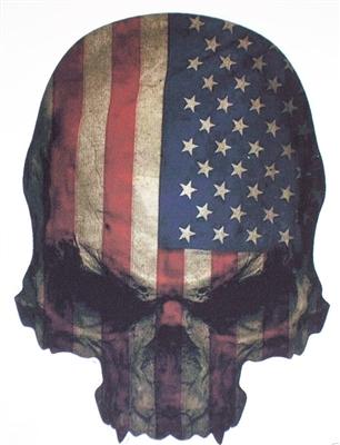 American Skull W Stars Amp Stripes Decal