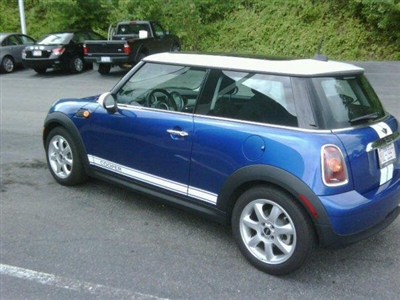 Mini Cooper W White Mini Quot Cooper Quot Side Stripes